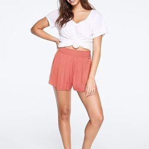Victoria's Secret PINK coral smocked shorts